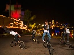 BMX Bikers and skaters