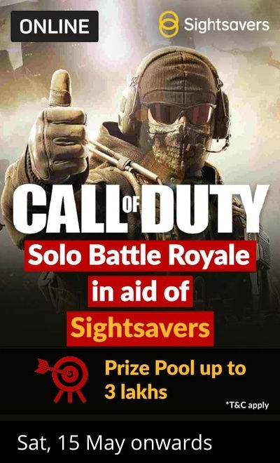 Call of Duty Battle Royale In Aid Of Sightsavers