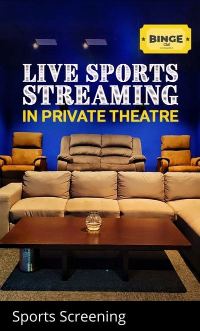 LIVE Sports Streaming in Private Theatre