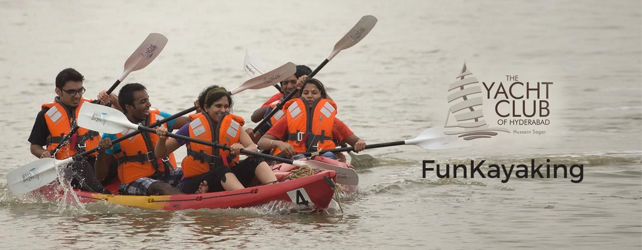FunKayaking  in The Yacht Club: Hyderabad