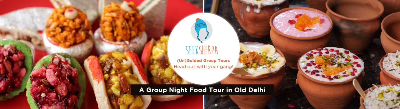 The Genesis of Delhi: A Group Night Food Tour in Old Delhi in Outside Mc Donald's Chandni Chowk