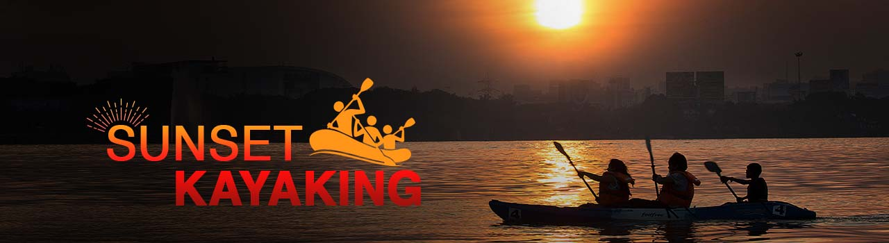Sunset Kayaking  in The Yacht Club: Hyderabad