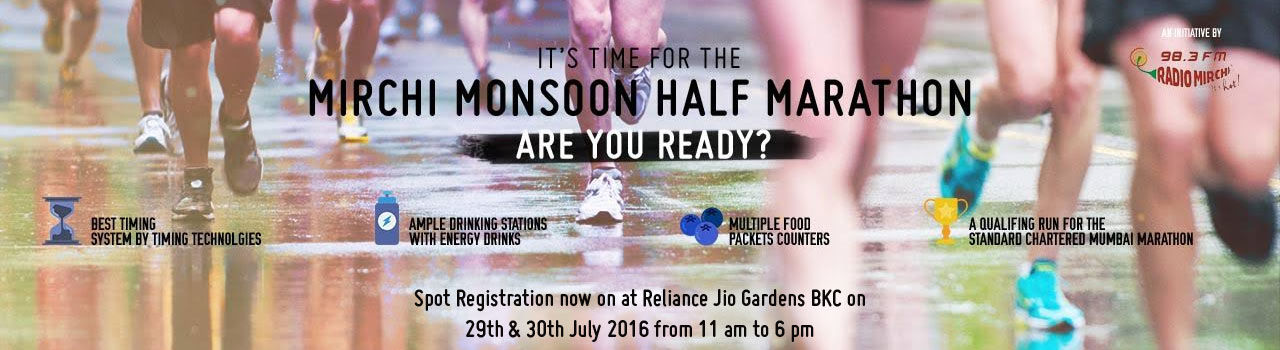 Mirchi Monsoon Half Marathon Season 2  in