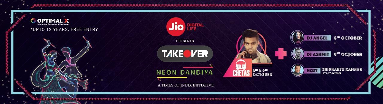 Takeover Neon Dandiya 2016  in Richardson and Cruddas Mill, Mulund West: Mumbai