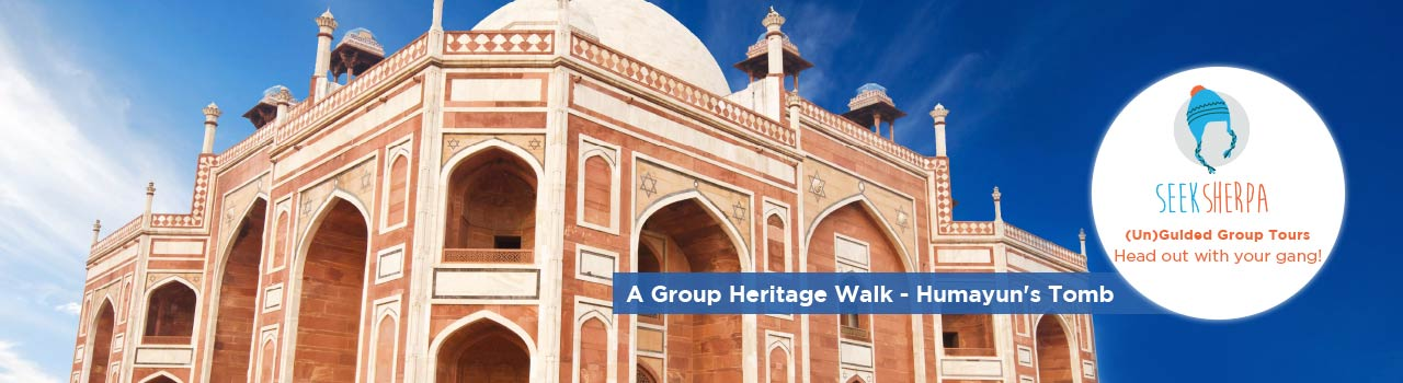A Group Heritage Walk - Humayun's Tomb in