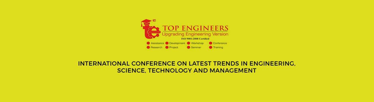 International Conference on Latest TrendsiIn Engineering, Science, Technology and Management in ICSA Program Center: Chennai