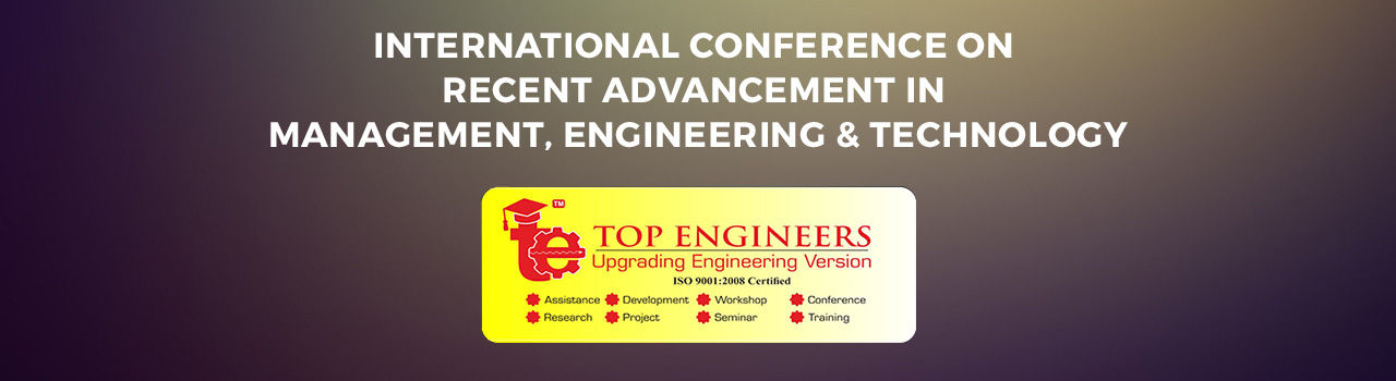 Internaional Conference on Recent Advancement in Management, Engineering and Technology  in Ram's Meeting Hall: Puducherry