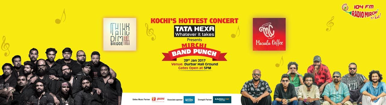 Mirchi Band Punch with Thaikkudam Bridge and Masala Coffee in