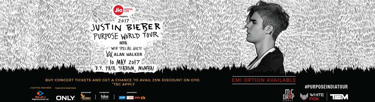 Justin bieber the purpose world tour in india online tickets at justin bieber the purpose world tour in india m4hsunfo Images