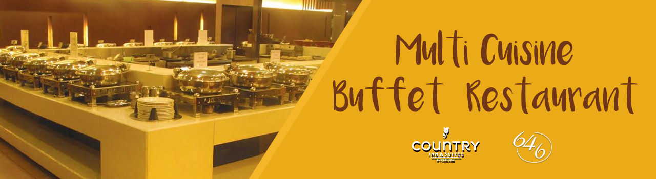 Multi Cuisine Buffet Restaurant in Country Inn & Suites by Carlson: Ghaziabad