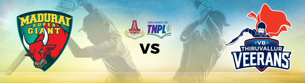 Tamil Nadu Premier League 2017 - Madurai Super Giant vs VB Thiruvallur Veerans in ICL Ground: Tirunelveli