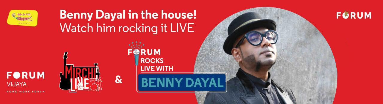 Mirchi Live and Forum Rocks with Benny Dayal in The Forum Mall: Bengaluru