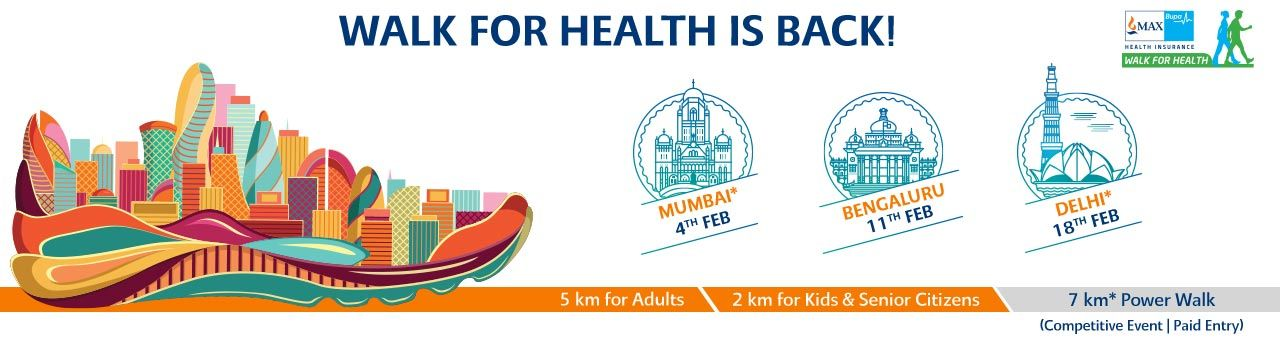 Max Bupa Walk For Health Season 6  in Major Dhyanchand National Stadium: Delhi