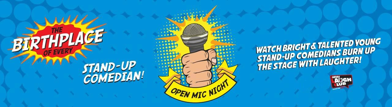 Open Mic With Andy Reghu in Canvas Laugh Club