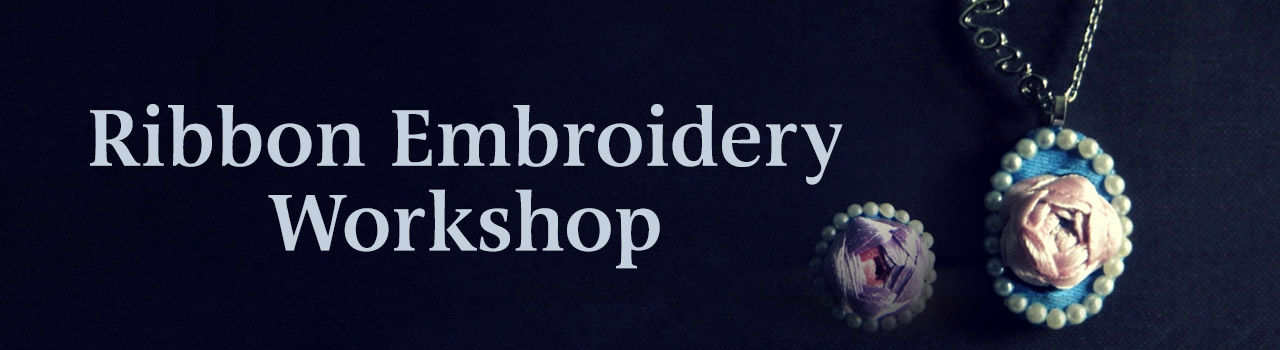 Ribbon Embroidery Workshop in Dialogues Cafe, JP Nagar: Bengaluru