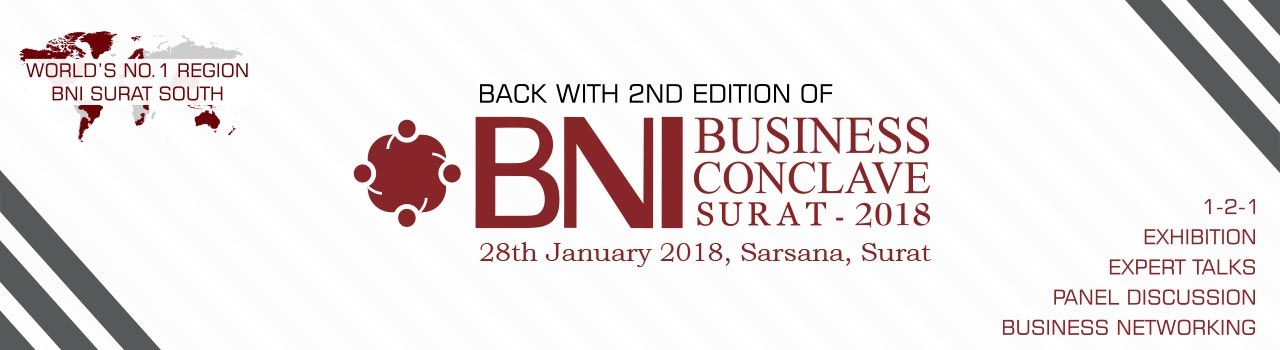 BNI Business Conclave Surat- 2018 in Platinum Hall (SGCCI): Surat