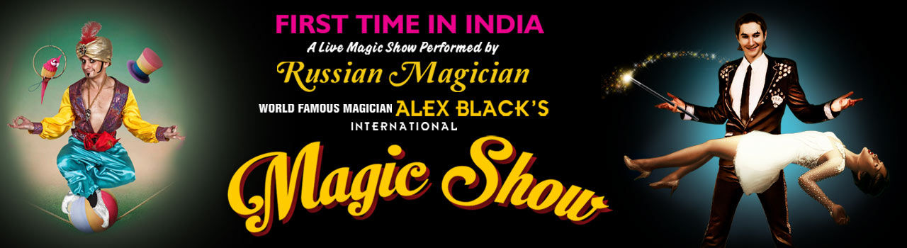 Russian Magician Alex Black's Magic Show in Town Hall: Bengaluru