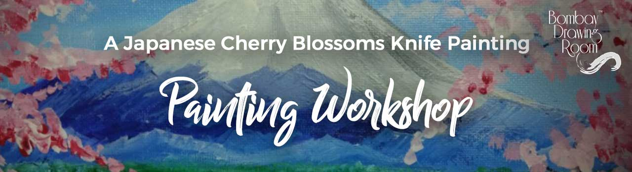 A Japanese Cherry Blossoms Knife Painting Workshop by Bombay Drawing Room in Soda Bottle Openerwala: Powai