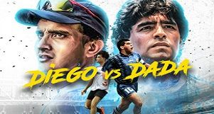 Match for Unity with Diego Maradona and Sourav Ganguly!