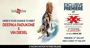 Buy 2 Get 1 Ticket Absolutely Free- xXx Return of Xander Cage!