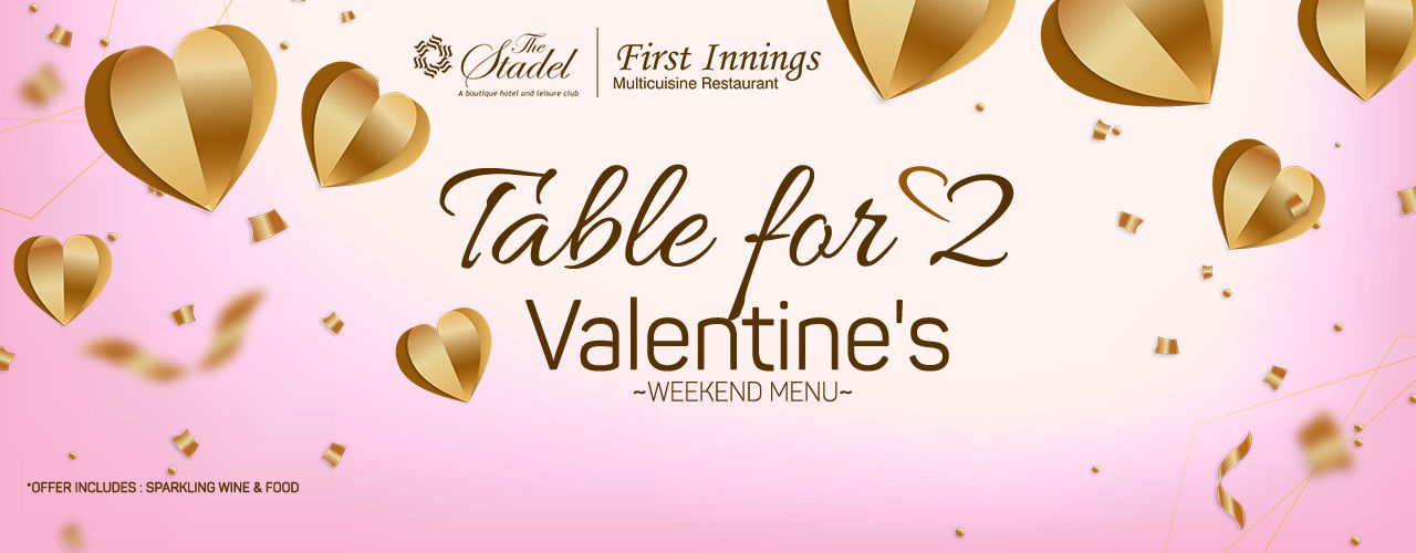 Table for Two - Valentine`s Weekend Menu