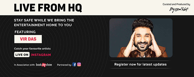 Vir Das Live from HQ by BookMyShow