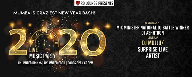 New Year 2020 Bash At Rd Lounge Nye Parties Tickets Mumbai Bookmyshow