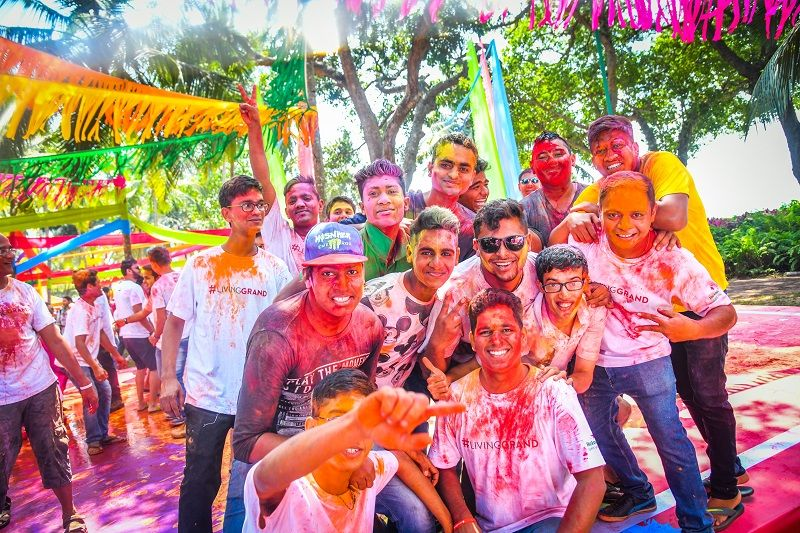 Goa holi celebration