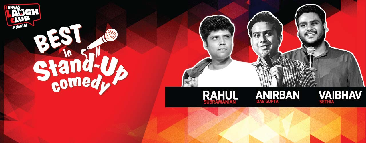 Best in stand up with Vaibhav, Anirban and Rahul