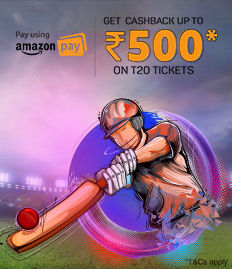 Amazon Pay T20 Ticket Offer - BookMyShow