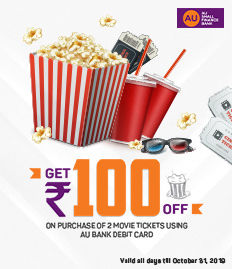 Get ₹100/- off on minimum Purchase of 2 Tickets - BookMyShow
