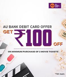 AU Bank Movie Ticket Offers for Weekends - BookMyShow