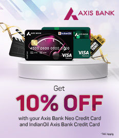 Axis Neo Credit Card Offer - 10% discount