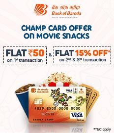 Bank of Baroda Champ Card Offer on FnB