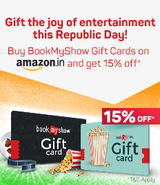 15% off on BookMyShow Digital Vouchers