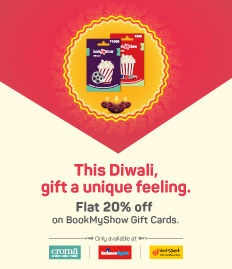 BookMyShow Gift Card Diwali Sale 20% Off