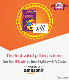 15% off on BookMyShow Gift cards