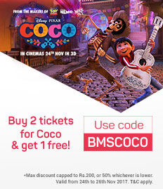 Coco movie ticket offer - BookMyShow