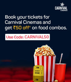 Rs.50 off on F&B booked for movies at CARNIVAL