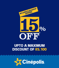 Cinepolis cinema movie tikcet offer/discount bookmyshow