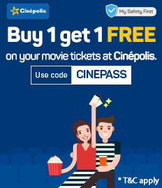 Buy 1 Get 1 Free Movie Ticket Offer - Cinépolis | BookMyShow