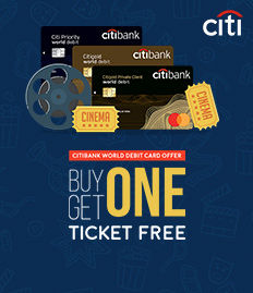 CITIBANK WORLD DEBIT CARD - BUY ONE GET ONE FREE