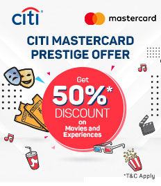 CitiBank MasterCard - Prestige Offer | BookMyShow