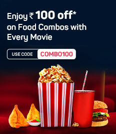 Rs.100 off on F&B booked for movies