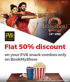 PVR Snacks Combos Discount - BookMyShow