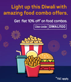 Rs.100 off on F&B booked with movies