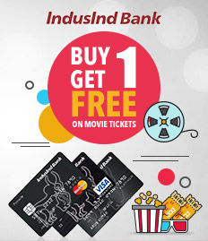 Indusind Bank Credit Card Movie Ticket Offer