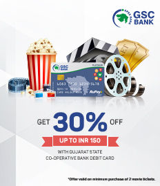 Gujarat State Co-operative Bank debit card offer, movie ticket offer