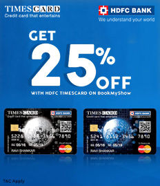HDFC Bank Times Card Movie Ticket