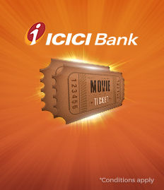ICICI bank Movie Ticket Discount